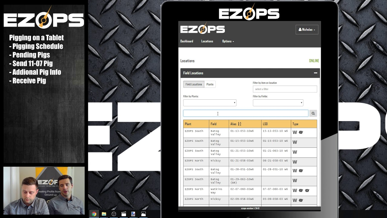 Pigging optimization: How to send a pig with EZ Ops Video