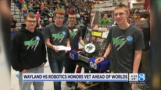 Wayland HS robot an homage to mentor with cancer