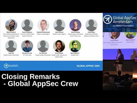 Closing Remarks - Global AppSec Crew