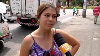 Em São Mateus, cartazes alertam sobre assaltos
