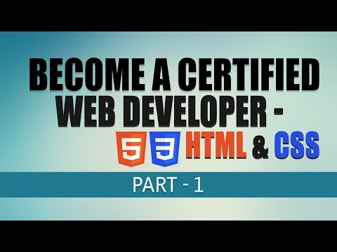 Free Complete Web Development Tutorial | HTML & CSS Fundamentals | Part 1