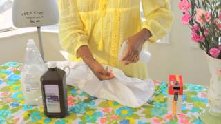 How Do I Clean Stains on White Clothes? : Clothing Care