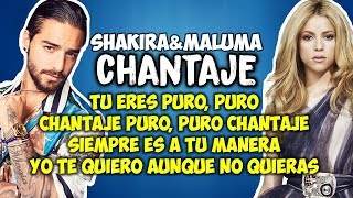 Shakira ft Maluma - Chantaje (Letra)