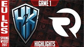 H2k vs Origen Game 1 Highlights - EU LCS W10D2 Spring 2017 - H2k vs OG G1