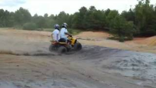 can am Ds250 rippin up sand pit