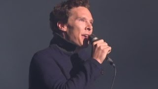 Cumberbatch shows off his singing voice