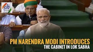 PM Narendra Modi introduces the cabinet in Lok Sabha