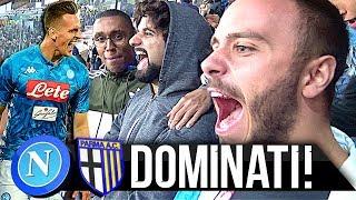 DOMINATI!!! NAPOLI 3-0 PARMA | LIVE REACTION NAPOLETANI STADIO SAN PAOLO HD