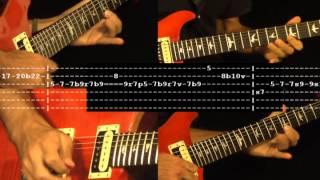 Simple Man Solo - Lynyrd Skynyrd Guitar Cover & Tabs Part 4/5 FarhatGuitar.com