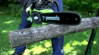 GreenWorks 40V Lithium Ion Brushless Cordless Chainsaw...