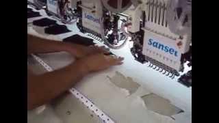 Máquina de bordar Sansei  Bordado de 12 cabeças bordando filigrana / filigrama.