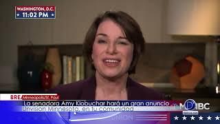 La senadora Amy Klobuchar hara un gran anuncio