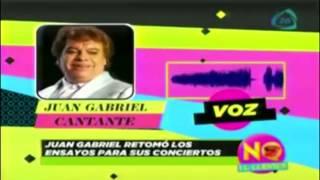 Juan Gabriel retoma ensayos para concierto en Estados Unidos