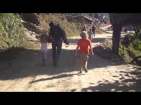 family tour around Pokhara Nepal