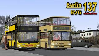 OMSI | Berlin | BVG 137 | MAN A39 (DL05) | Additional Bus | Timelapse