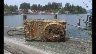 A máquina fotográfica foi encontrada no fundo do Mar