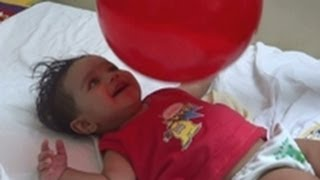 BABY PLAYING with BALL - Baby play Ball - Baby playing Ball and Laughing