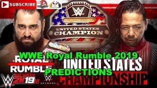 WWE Royal Rumble 2019 United States Championship Rusev vs. Shinsuke Nakamura Predictions WWE 2K19