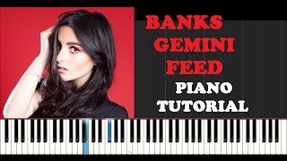 Banks - Gemini Feed (Piano Tutorial With Synthesia)