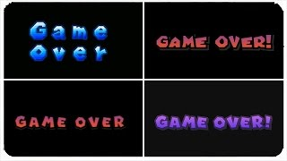 New Super Mario Bros. Series - Game Over Screen Evolution (All Death Screens)