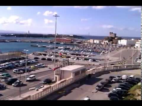 Port of Tarifa in Spain. Ferry to Morocco