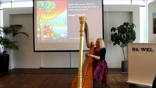 Harpist Regina Ederveen plays As the deer panteth for the water on harp