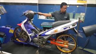 YAMAHA 125ZR 2T Drag Racing Bike Dyno - Motodynamics Technology Malaysia