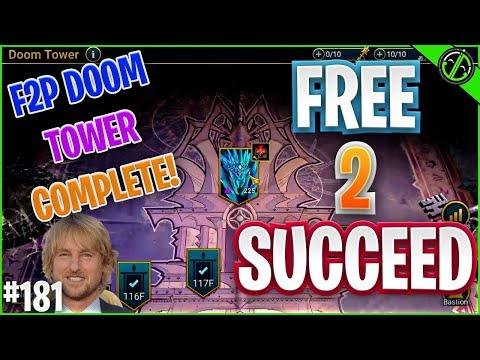 HUGE Progress Over The Weekend!! F2P Doom Tower Done, Tormin, Yoshi | Free 2 Succeed - EPISODE 181