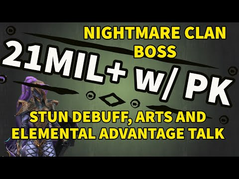[RAID SHADOW LEGENDS] PAIN KEEPER 21MIL ON NIGHTMARE CLAN BOSS + STUN, ARTS & ELEMENTAL TALK