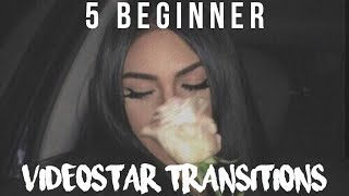 5 easy beginner transitions! | videostar tutorials