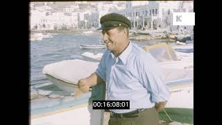 Mykonos, Windmills, 1970s Greek Island, HD