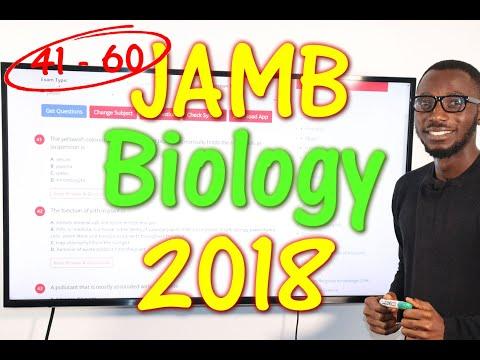 JAMB CBT Biology 2018 Past Questions 41 - 60