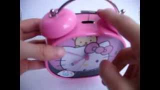 reloj despertador doble campana hello kittyDSCI0755