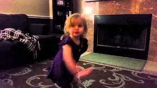 Kyla dances to Kelly Clarkson Invincible