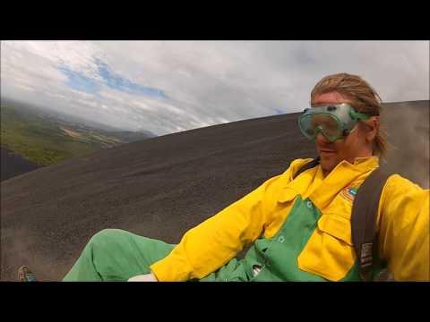 LGTT: Volcan Cerro Negro, Leon, Nicaragua (Volcano Boarding)