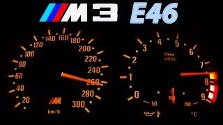 BMW M3 E46 Acceleration 0-270 Onboard + Burnout + Sound Beschleunigung Exhaust