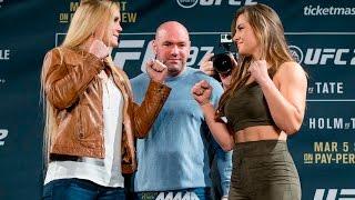 UFC 197: Holly Holm vs. Miesha Tate Staredown