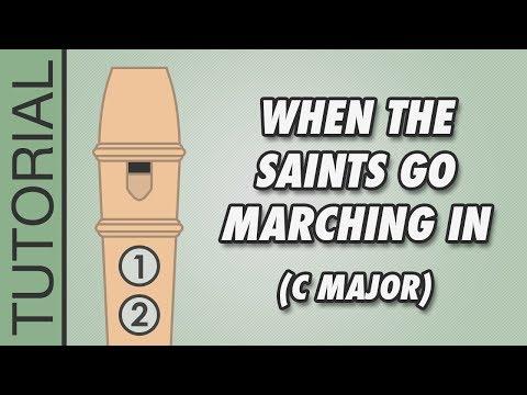 Comment jouer When The Saints Go Marching In à la flûte