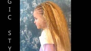 Thermofiber Open Braids (Water Wave) and Cornrows for a cute little Girl
