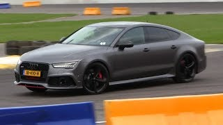 MR PROBZ DRIVING HIS AUDI RS7 AT THE TRACK!
