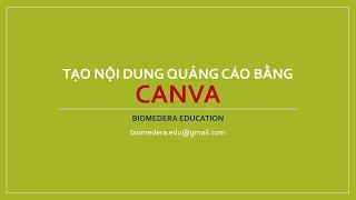 Quảng cáo chuyên nghiệp bằng hình ảnh cùng Canva