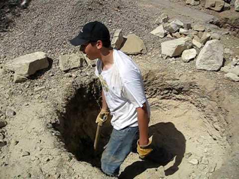 David digging