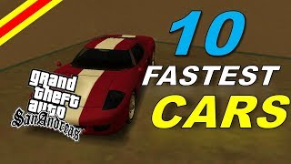 Top 10 Fastest Cars In GTA San Andreas