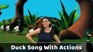 Duck Song For Babies | Ducks Action Song | Duck Rhyme With Actions | Bird Songs For Kids | Ducklings