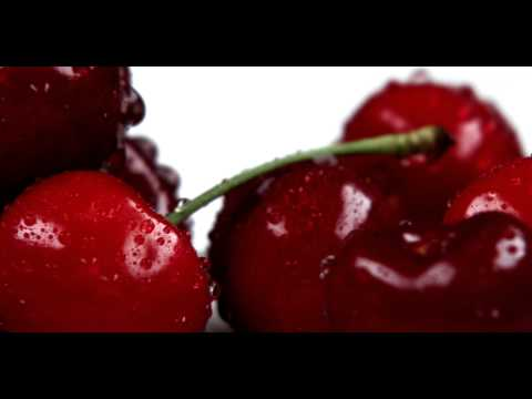 Royalty Free Stock Footage of Close up pan across red cherries.