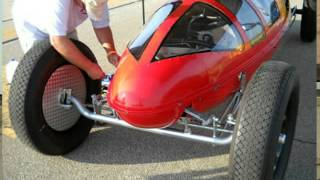 1950 Belly Tanker Drag Car at The ECTA-East Coast Timing Association in Wilmington Ohio