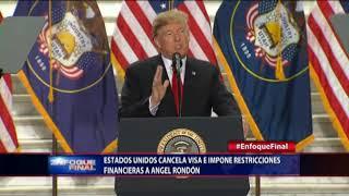 Estados Unidos cancela visa e impone restricciones financieras a Ángel Rondón