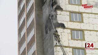 На Николо-Березовском шоссе загорелась новостройка
