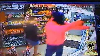 Armed Robber Meets Armed Clerk