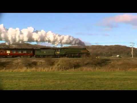 86259 & A4 60009 UOSA on the Winter Cumbrian Mountain Express @ Bolton le Sands & Carnforth
